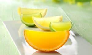 como hacer gelatinas en forma de gajos de naranja
