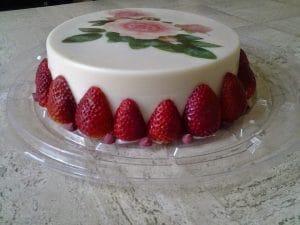 receta de gelatina de yogurt y fresa