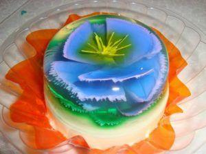 como hacer gelatinas decoradas flor en 3d
