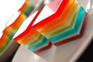 como hacer gelatina de colores de 6 capas