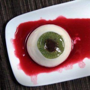 como hacer gelatina blanca en forma de ojo