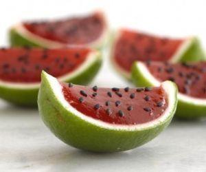 gelatina con sandia natural