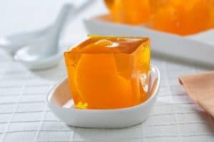 recetas de gelatinas de frutas naranja con leche condesada