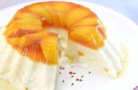receta de gelatina de yogurt sabor durazno