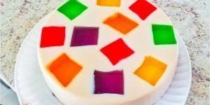 gelatina de mosaico en individuales