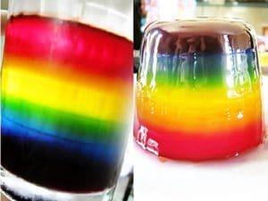 como hacer gelatinas de varios colores