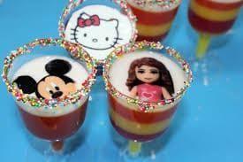 como decorar gelatinas individuales 1
