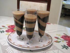 como hacer gelatina de cafe con rompope