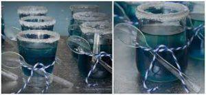 como hacer gelatinas azules 1