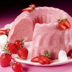 como hacer gelatinas con yogurt de fresa 2