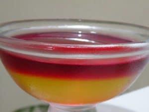 Como hacer gelatina de dos sabores