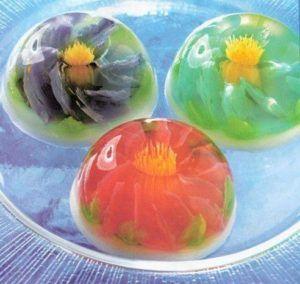 como hacer gelatinas florales