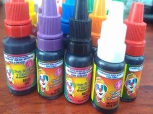 Ingredientes para hacer gelatinas de colores