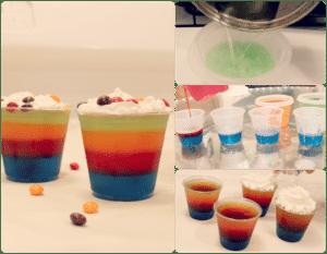 recetas para hacer gelatinas de colores
