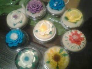 Como hacer gelatinas de flores