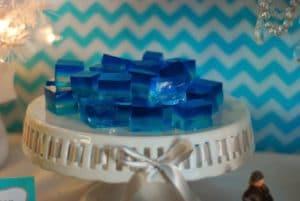 como hacer gelatinas azul de frozen