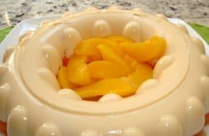 como hacer gelatina blanca de durazno